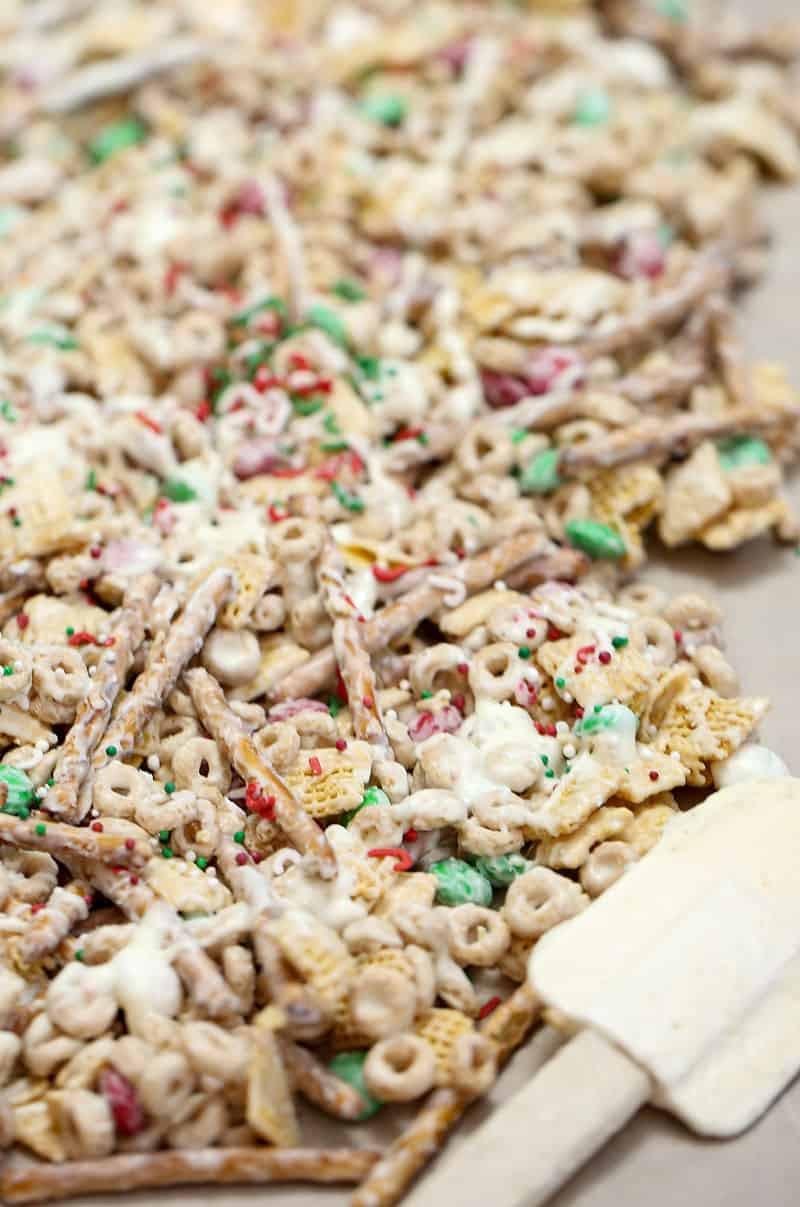 White Trash Christmas Candy  White Chocolate Christmas Trash Snack Mix