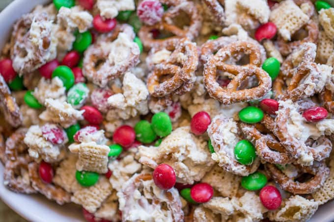 White Trash Christmas Candy  Christmas White Chocolate Trash Snack Mix Dinner then