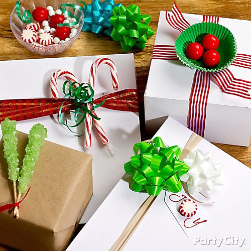 Wrapped Christmas Candy  Holiday Candy Gift Wrap DIY DIY Gift Wrap Ideas