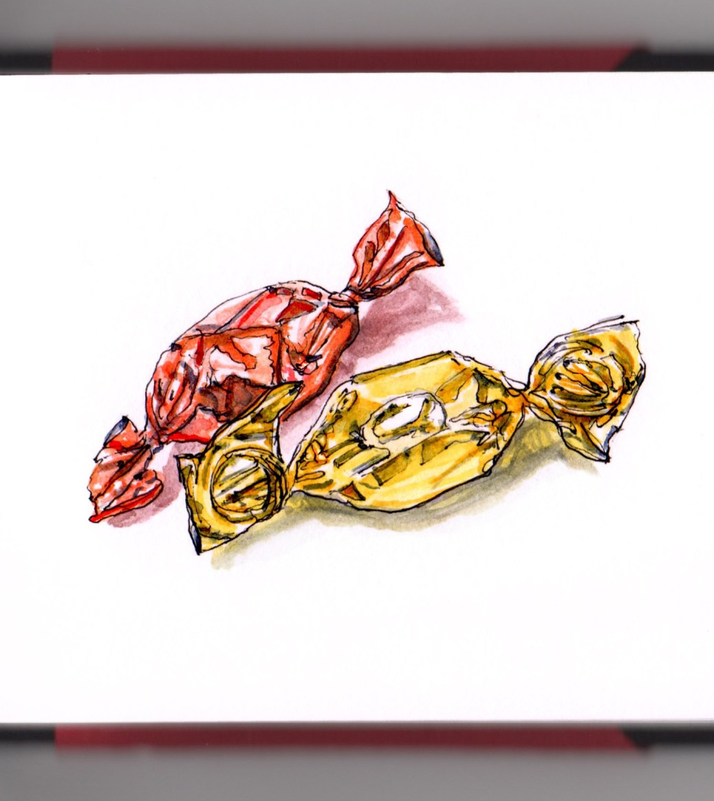 Wrapped Christmas Candy  Christmas Candy Doodlewash