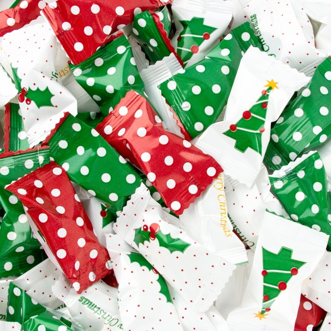 Wrapped Christmas Candy  Christmas Dotted Wrapped Buttermints • Wrapped Candy