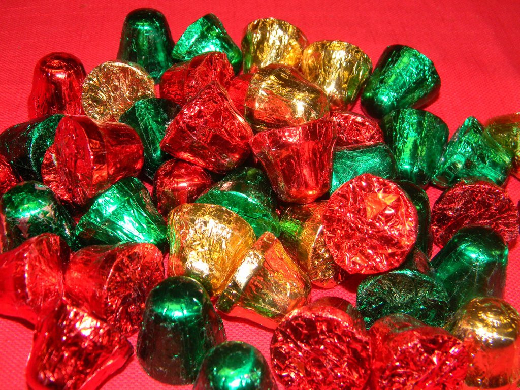 Wrapped Christmas Candy  Foil Wrapped Chocolate Christmas Bells – Victoria s Can s