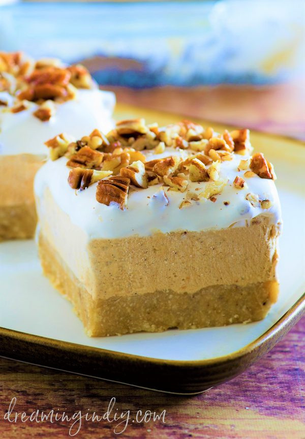 Yummy Fall Desserts  Pumpkin Spice Lush – Easy No Bake Layered Dessert Recipe