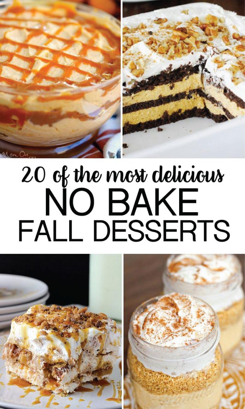 Yummy Fall Desserts  No Bake Fall Desserts