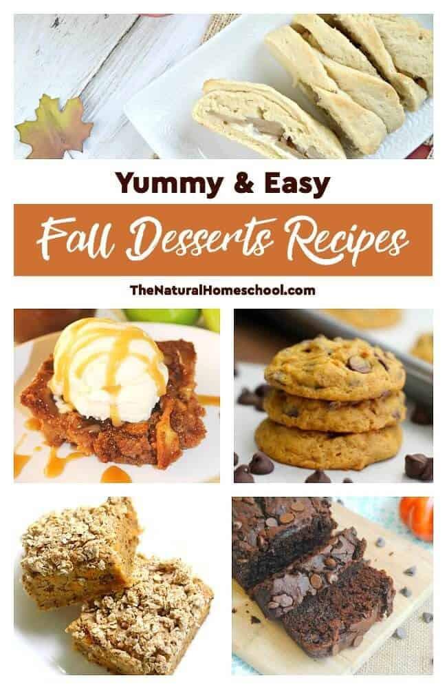 Yummy Fall Desserts  Yummy & Easy Fall Desserts Recipes The Natural Homeschool